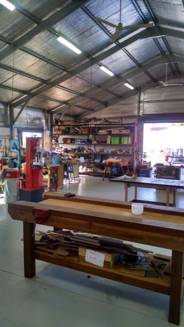 Photo of the inside of the shed.